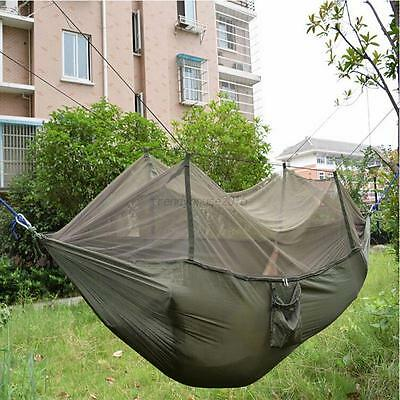 AU Outdoor Double Person Hanging Hammocks Bed With Mosquito Net Camping Tents