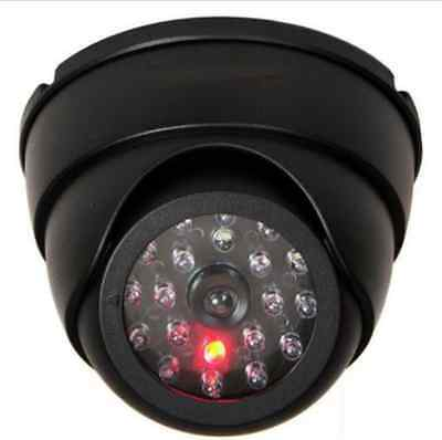 Dummy Dome Fake Security Camera CCTV 30pc False IR LED W/ Flashing Red LED Light