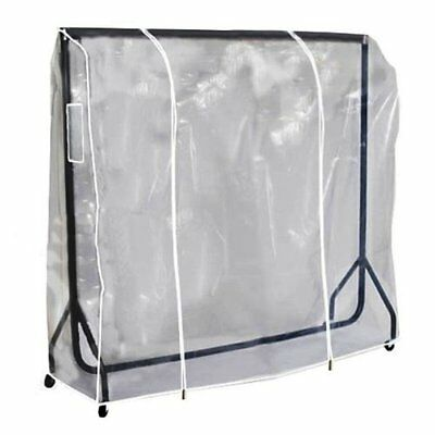 4ft Clear Transparent Clothes Rail Cover For Hanging Garments Coats
