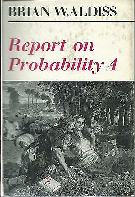 Report on Probability A Brian Aldiss 1st edition 1968 Faber and Faber hardcover
