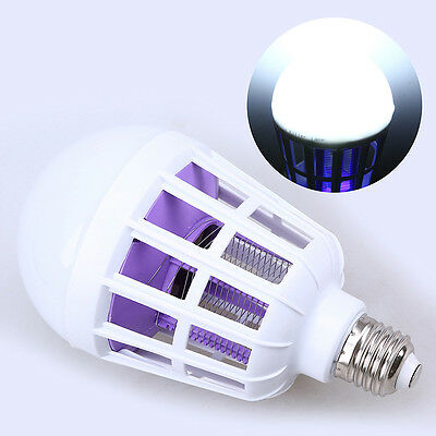 15W E27 LED Light Bulb Anti Bug Light Fly Insects Zapper Mosquito Killer Lamp