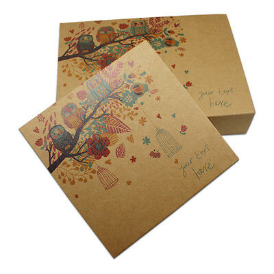 Brown Drawer Kraft Paper Boxes Gift Candy Cake Packing Party Owl Printing Box