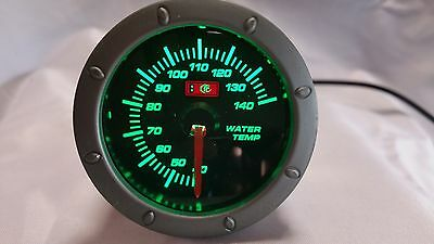 "Water Temp Gauge GREEN backlight 2"" 52mm"