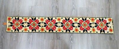 VINTAGE 70's Retro Cross Stitch Knitted WALL HANGING - BOHO 115 cm