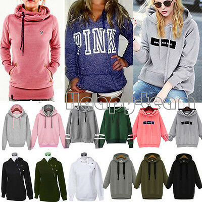 Women's Long Sleeve Hoodies Sweatshirt Hooded Pullover Tracksuit Jumper Outwear