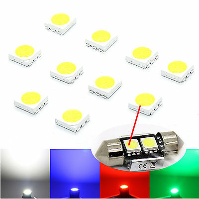 10x 100x SMD LED 5050 Chip kaltweiß HIGH POWER - weiße SMD white blanch blau rot