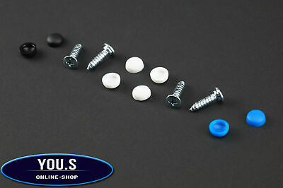 1 Set Number Plate Screws Caps 12 Piece - 5,3x21 mm - Car Truck Motorcycle