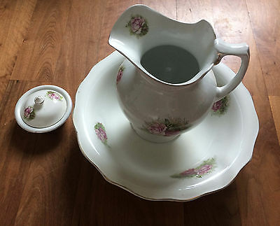 Edwardian Jug, Bowl and Soap Dish Set