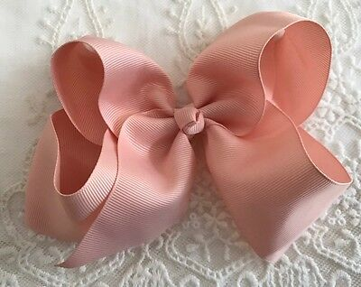 """Ballet Pink👛HollyBow 6"""" Boutique Girls Toddler Big Hair Clip Bow Accessory"""