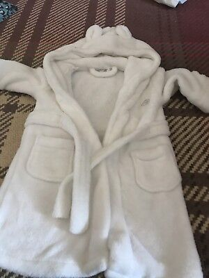 White Dressing Gown 12-18 Months