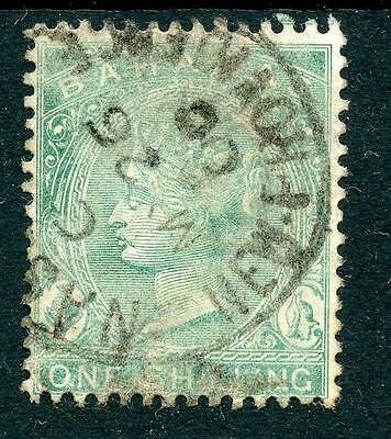 Bahamas 1882-98 1s blue-green SG44a used