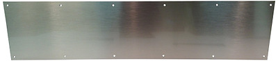 "Don-Jo 90 Metal Kick Plate, Satin Stainless Steel Finish, 32"" Width x 6"" Height,"
