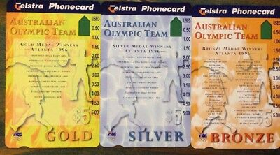 Mint Phonecard Set Australian Olympic Team RARE