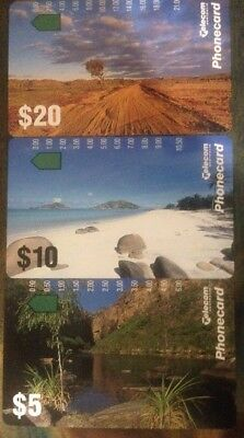 Mint Phonecard Set 1993 Landscapes