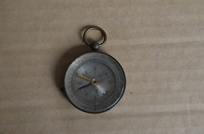 Vintage Brass Locking Compass Made In France