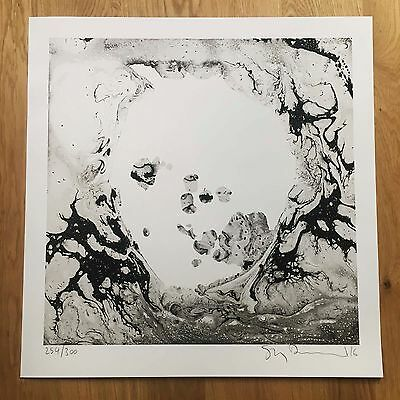 Stanley Donwood WRAITH - SIGNED screen print (254/300) Radiohead A Moon Shaped