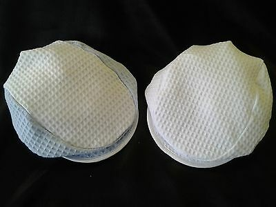Twin Pack of  100% Cotton Waffle Fabric Baby Flat Caps