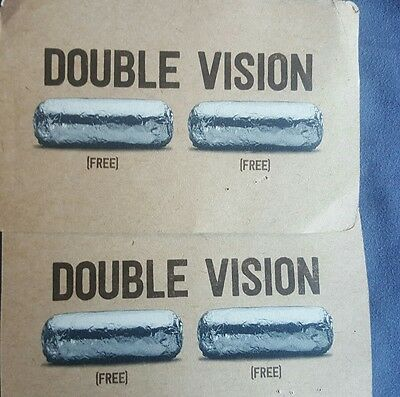 Rare Chipotle cards for two free meals