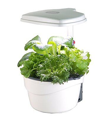 EcoPro Tools HP2015L LED Indoor Hydroponics Grower Kit 5 Pod System, Ivory White