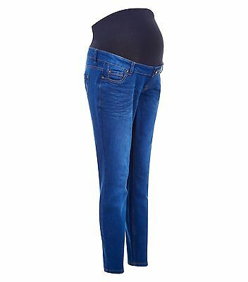 Maternity New Look Authentic Over The Bump Skinny Jeans Blue Size 14 Leg 28 & 30