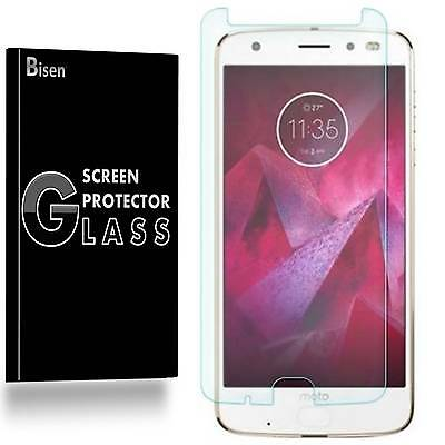Motorola Moto Z2 Force Edition [2-PACK BISEN] Tempered Glass Screen Protector
