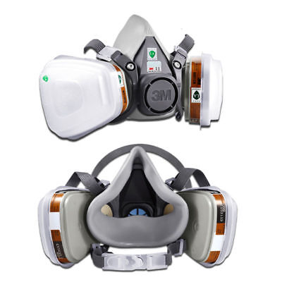3M 6200 7 in1 Suit Spray Paint Dust Mask Vapour Particulate Reusable Respirator.