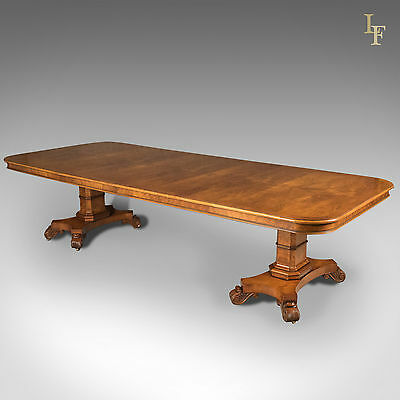 Large Extending Walnut Dining Table, 6-12 Seater, English, Late C20th, Quality