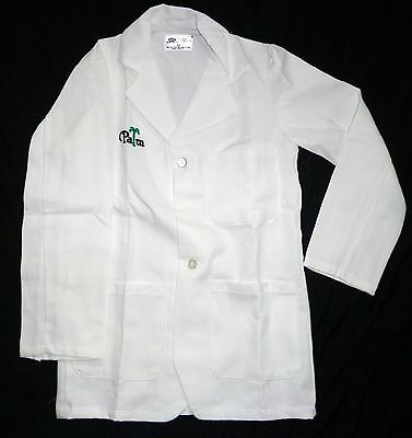 Best Medical Unisex L/S Lab Coat 3 Pocket Palm Embroidery White Size Small