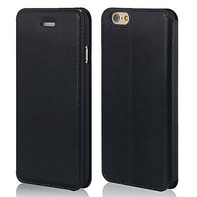 For iPhone 4s 5 5s 6 6Plus Slim Fashion PU Leather Flip Phone Case Cover New