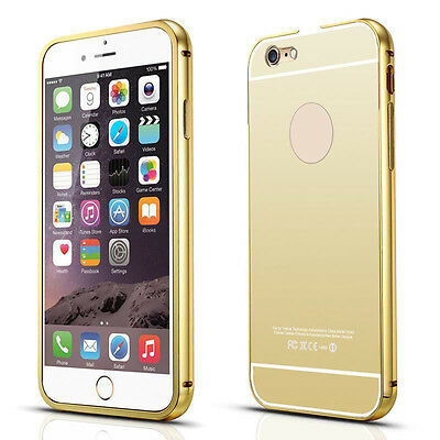 Luxury Aluminum Ultra-thin Mirror Metal Case Cover for iPhone 5S 6 6S Plus