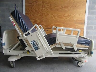 Stryker Secure II Electric Hospital Bed w/ Mattress, IV Pole, & Telemetry Cable
