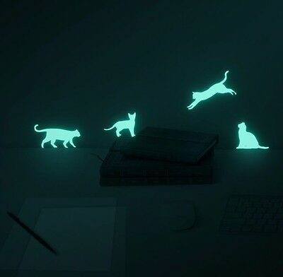 Moonlight Cats (glow in the dark cat night-light sticker)