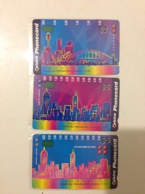 Mint Phonecard Set Sydney/Hong Kong