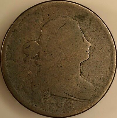 1798 Draped Bust Large Cent S 147 R 5 Almost Good