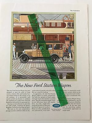 1929 model a woodie station wagon ad --rare--item