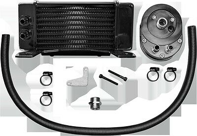 Horizontal 10 Row Oil Cooler  Low Mount  Black Jagg Oil Coolers 750-2300