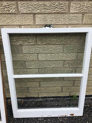 VINTAGE 2 PANE  SHABBY CHIC WOOD WINDOW FOR SALE 23 x 28 EXCELLENT