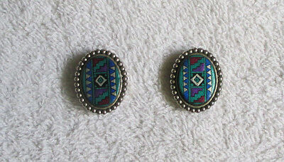 Pair of Southwestern Theme button covers