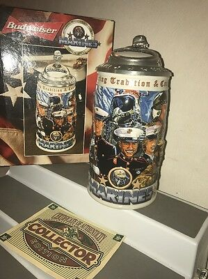 Anheuser Busch, Budweiser Honoring Tradition and Courage Stein Series, Marines