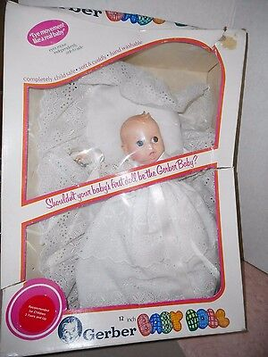 Vintage Gerber Baby Doll New In Box 1979 Eyes Move Like Real Baby 12 ""