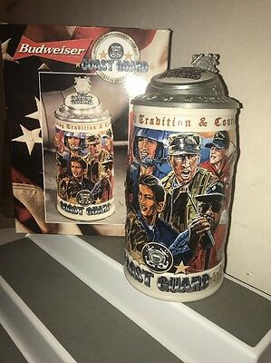 Budweiser Coast Guard Lidded Stein, CS417, Honoring Tradition and Courage Series