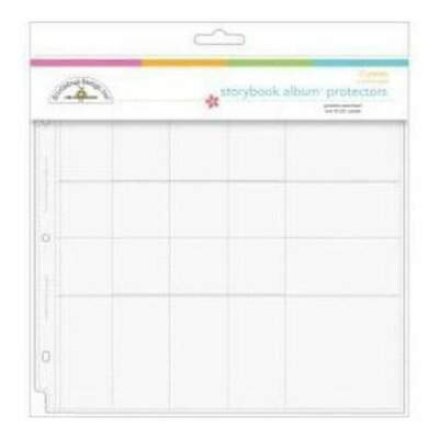 NEW Doodlebug Page Protector Assortment 12In.X12in. 12 Pack