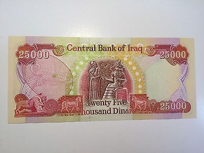 Central Bank Of Iraq 25000 Dinars Banknote, uncirculated, crisp