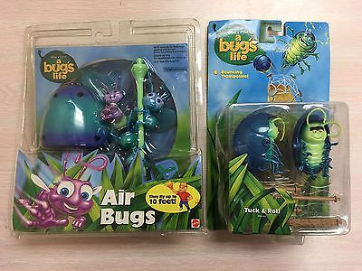 Disney Pixar A Bug's Life LOT Air Bugs Tuck & Roll Mattel 1998 NEW SEALED