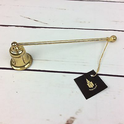 Partylite Candle Snuffer Chatham Model N6035 Polished Brass Finish Bell Shape @H