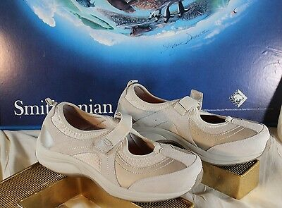 "Easy Spirit shoes Mary Jane NEW! Beige W/Velcro Strap ""ES Water Edge"" Size - 8"