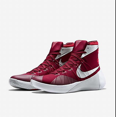check out d358f 335a4 Nike Hyperdunk 2015 TB Team Red White Silver Burgundy Mens 17.5