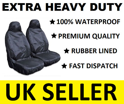 Audi A4 Extra Heavy Duty Car Seat Covers Protectors X2 / Waterproof / Black