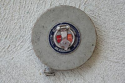 Vintage Rabone Chesterman Silverline No. 70W 100Ft Tape Made in England