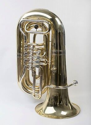 TEMPEST BBb 4-VALVE ROTARY TUBA SONOROUS MODEL COMPACT POWERFUL SOUND WITH CASE